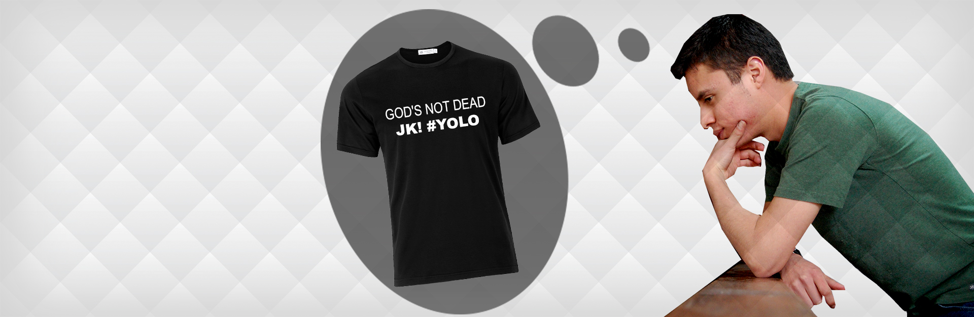 """God's Not Dead JK #YOLO"" Shirt"